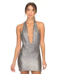 plunge dress cutout plunge front silver bodycon dress odelia motel rocks