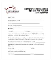 catering contract template 13 download free documents in word pdf