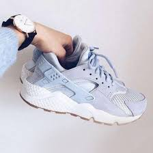nike air huarache light blue shoes sneakers blue light blue baby blue fashion style sports