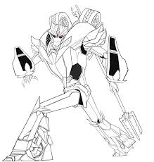 transformers prime coloring pages knockout