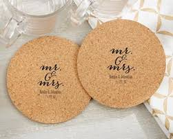 wedding favor coasters personalized mr and mrs cork coasters set of 12 favors