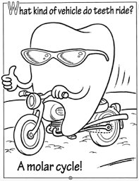dental health picture of teeth in dental health coloring page