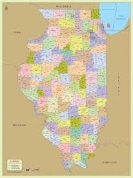 Map Michigan Counties by Buy Illinois Zip Code With Counties Map