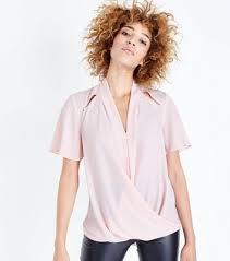 shoulder cut out blouse s wrap tops bodysuits wrap crop tops look
