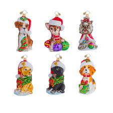 radko ornaments animal ornament puppy prepack