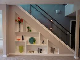 tv under stairs design