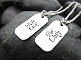 his and hers dog tags one his only s mini dog tag necklaces