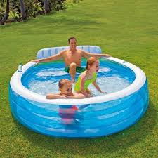 Intex 12x30 Pool Baby Swimming Pool Float Seat Inflatable Ring Tube Water Aid Raft