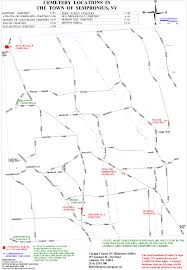 Cayuga County Map Map Of Cemetery Locations In Cayuga County Ny