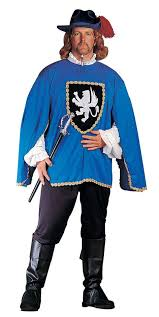 Mens Size Halloween Costumes Men U0027s Size Musketeer Costume Red Blue Renaissance Costumes