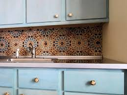 Moroccan Tile Kitchen Backsplash Moroccan Style Tile Backsplash Home Design Ideas