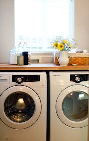 table top washer dryer use an ikea butcher block countertop above your washer and dryer for