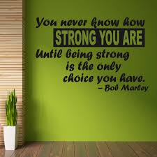 bob marley strength wall sticker quote wall chimp uk bob marley strength wall sticker quote