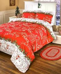 Red White Comforter Sets Christmas Comforter Set Full Queen King Size Red U0026 White Rustic Birch