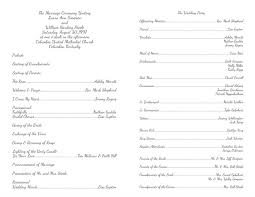 Wedding Programs Template Resume Template Program Templates Word Free Wedding Wordwedding