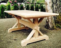 Build A Picnic Table Kit by Farmhouse Trestle Table Diy Kit Made To Order