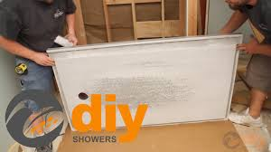 how to install an onyx collection shower pan and drain