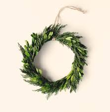 natural home decor minimalist wreath preserved wreath boxwood