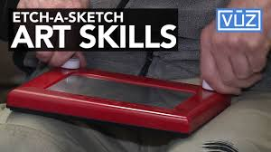 man has amazing etch a sketch skills