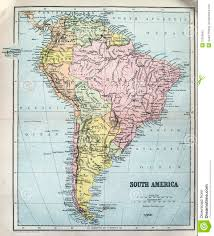 South America And Central America Map by Antique Map Of South America Stock Photography Image 37050042