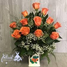florist gainesville fl dozen orange roses in a gator vase the plant shoppe gainesville fl