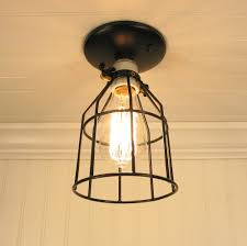 Caged Ceiling Fan With Light Single Cage Ceiling Light New Lighting Beautiful Cage Ceiling