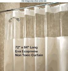 extra long clear shower curtain foter