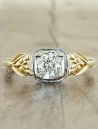 devon art deco style cushion cut diamond engagement ring ken