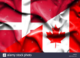 Flag Of Canada Waving Flag Of Canada And Denmark Stock Photo Royalty Free Image