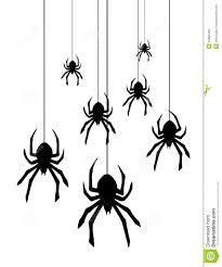halloween spiders vector hanging spiders stock photo image 23990460