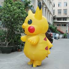 Inflatable Costume Halloween Aliexpress Buy Inflatable Pikachu Cosplay Carnaval