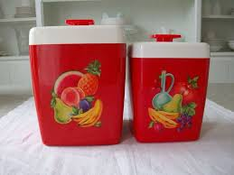 82 best very vtg kitchen misc canisters plastic images on