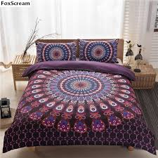 aliexpress com buy 3pcs set mandala bedding set king queen size