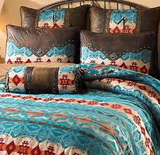 Western Bedding Set Turquoise Cimarron Bedding Collection Wings