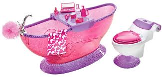 Cheap Bathroom Sets by Amazon Com Barbie Bath To Beauty Bathroom Set Toys U0026 Games