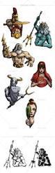 mythical creatures u0026 greek mythology vector bundle inkydeals