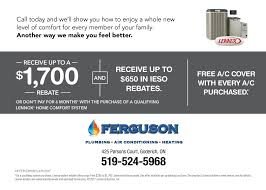 receive up to 1700 off lennox home comfort products u2013 ferguson