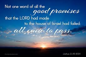 Words Of Comfort From The Bible God U0027s Word Never Fails Joshua 21 45 Daily Verse