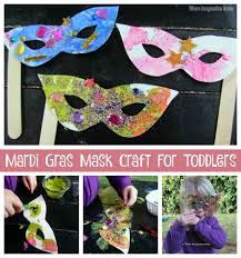 marti gras masks mardi gras mask craft for toddlers where imagination grows