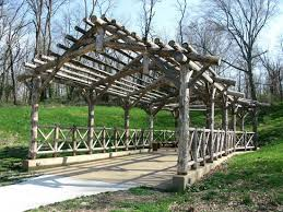 Botanical Gardens Il Bridge Structure On The Grounds Of The Botanical Garden