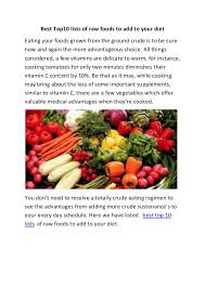 raw foods list of food to eat weight loss programs for diabetics