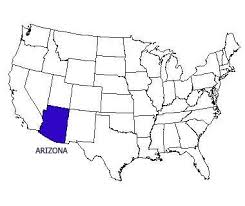 map of the united states with arizona highlighted arizona state motto nicknames and slogans