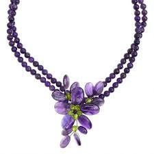 sterling silver flower necklace images Beautiful amethyst and peridot sterling silver flower necklace jpg