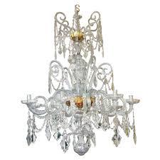 Real Crystal Chandelier Chandelier Made By Real Fabrica De Cristales De La Granja Circa