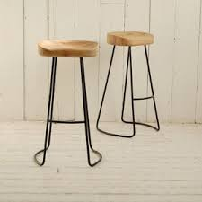 wooden painted bar stools