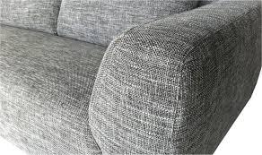 tissu housse canapé canapé d angle design en tissu gris chiné moon