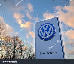 german volkswagen logo koblenz germany january 14 2017 sign stock photo 558292786