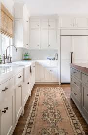 Images About Kitchen On Pinterest L Shaped Designs Shape And Green Farmhouse Chic Kitchen Vintage Turkish Runner Jamiekeskindesign