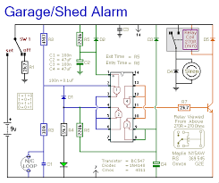 automatic garage shed alarm circuit diagram