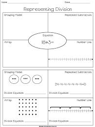 representing division free worksheet where students represent